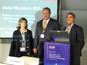 Nerea Landa, Dieter Manstein y José Luis Azpiazu